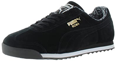 ac6a1a450122 Image Unavailable. Image not available for. Colour  Puma Roma Suede Paisley  Men US 14 Black Sneakers