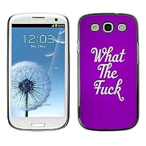 X-ray Impreso colorido protector duro espalda Funda piel de Shell para SAMSUNG Galaxy S3 III / i9300 / i747 - The Purple Text Quote Rebel Punk