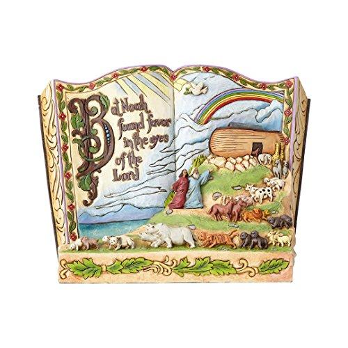 Enesco Jim Shore Heartwood Creek 4058986 Noahs Ark Bible Story Book (Noahs Ark Jim Shore)