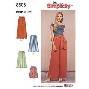 Simplicity Patterns Skirts Pants, A (XS-S-M-L-XL)