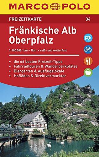 MARCO POLO Freizeitkarte Fränkische Alb, Oberpfalz