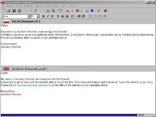 Polish from-to English Computer Translation Software v4.0