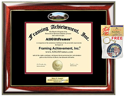 (Diploma Frame Stanford University Graduation Gift Idea Engraved Picture Frames Engraving Degree Certificate Holder Graduate Him Her Nursing Business Engineering Education School)