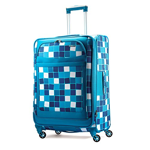 """American Tourister® iLite Max 25"""" Blue Squares Spinner"""