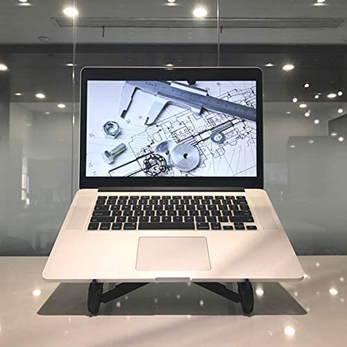 Reinforced Nylon Easy to Open and Close Natural Heat Dissipation Desktop Lazy Lightweight Portable Folding Heat Increase Base -22.2X26.5X16cm Laptop Stand YangXu Laptop Stand