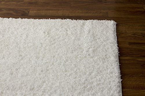Super Area Rugs Cozy Collection Pure White Shag Rug 5