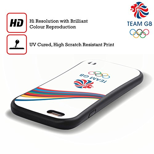 Official Team GB British Olympic Association Fluid Bands 2 Rio Hybrid Case for Apple iPhone 6 Plus / 6s Plus
