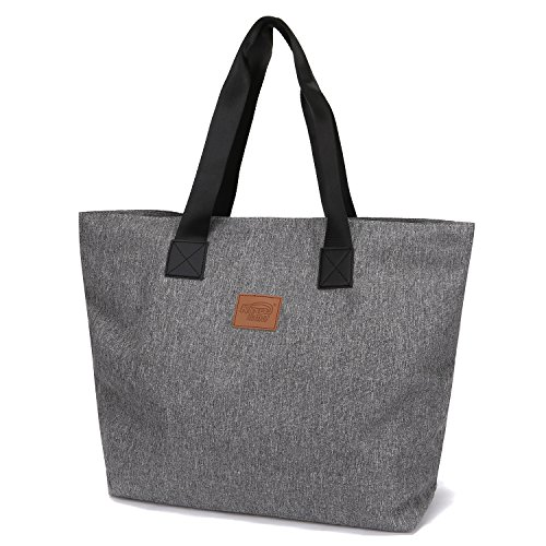 Stylish Large Diaper Tote Bag for Toddlers - Perfect Baby Shower for Mom - Heather Grey