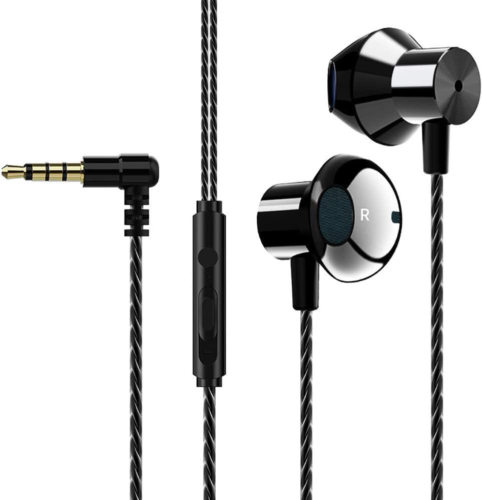 Aigital Earbuds Earphones Wired Earphones with Volume Control 3.5mm Jack HiFi Sound Lightweight Earphones Bass Shock in-Ear Headphones