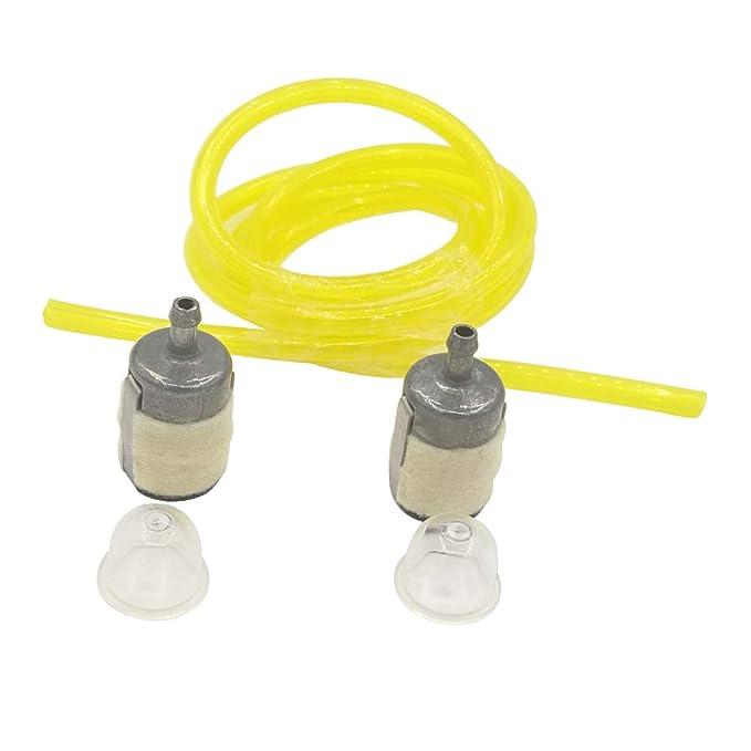 Shioshen Combustible filtro Primer combustible línea manguera tubo para GX22 HONDA GX25 GX31 GX35 Rototiller String Trimmer desbrozadora