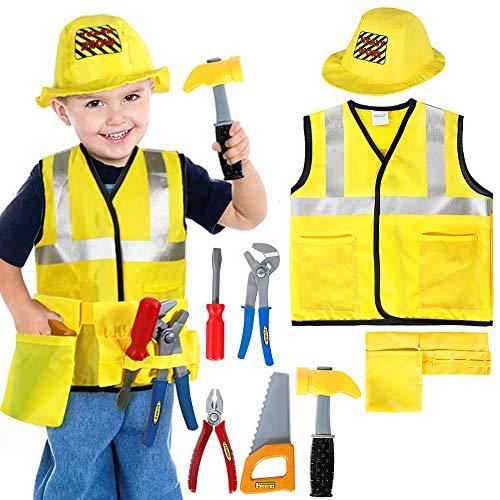 Construction Halloween Costumes (BesserBay Kids Construction Costume Worker Cosplay Clothes Builder Halloween)