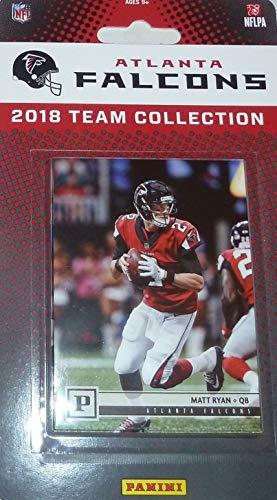 Atlanta Falcons 2018 Panini Factory Sealed NFL Football Complete Mint 13 Card Team Set with Matt Ryan, Julio Jones, Calvin Ridley Rookie Card plus