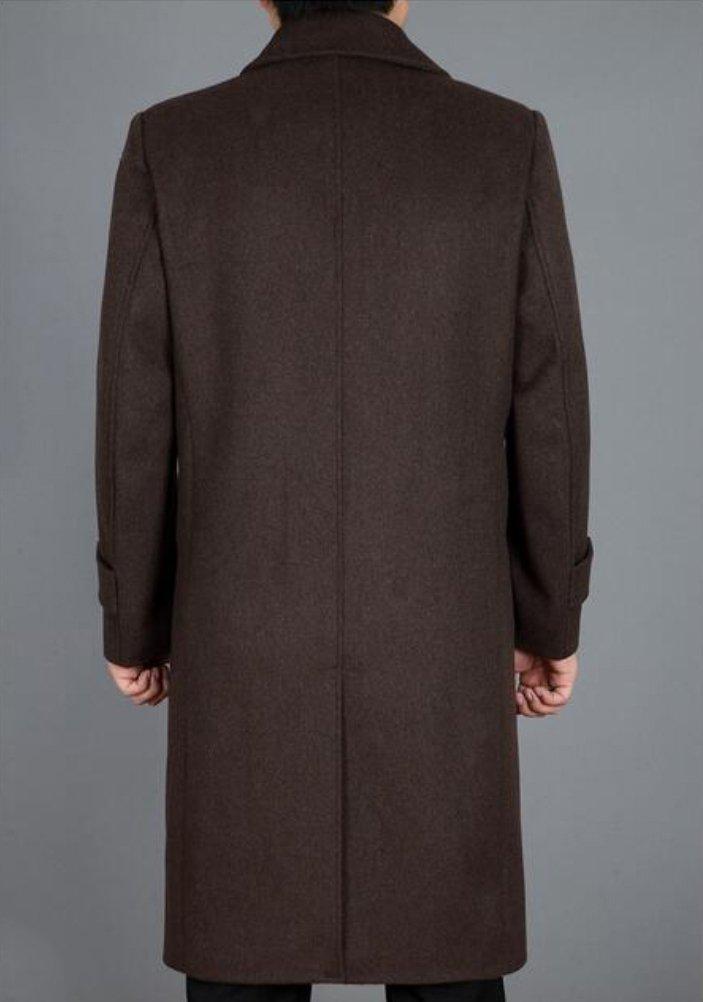 Lavnis Men's Woolen Trench Coat Long Slim Fit Business Outfit Jacket Overcoat 2XL by Lavnis (Image #3)