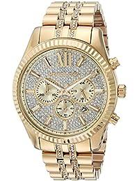 Michael Kors Men's Quartz Stainless Steel Casual Watch, Color:Gold-Toned