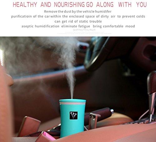 RuiQi KeJi Ultrasonic Cool Mist Humidifier with LED light&Whisper Quiet&Portable USB Powered for Home Office Car Travel Yoga Spa, 230ml by RuiQi KeJi (Image #1)