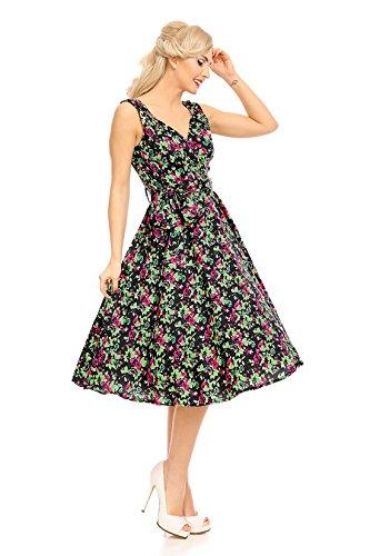 Donna Retro Vintage Rockabilly Pin Up Vestitino stile anni  50 FARFALLA  Abito a fiori  Amazon.it  Abbigliamento 2b23a30e1b9