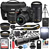 Nikon D3500 DSLR Camera with 2 Lens NIKKOR AF-P DX 18-55mm f/3.5-5.6G VR and 70-300mm f/4.5-6.3G ED Dual Zoom Lens Kit + 500mm Preset f/8 Telephoto Lens + 0.43x Wide Angle, 2.2X Pro Bundle