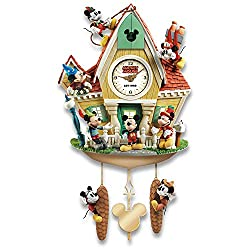 Bradford Exchange The Disney Mickey Mouse Through The Years Cuckoo Clock With Lights Music And Motion