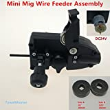 dc motor assembly - 24V DC Mini Wire Feeder Light Duty MIG Wire Feeder Assembly Wire Feed Machine For Mig Welder Welding Torch SSJ-16