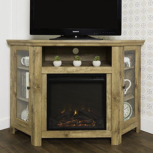 Barnwood Corner (New 4 Foot Wide Fireplace TV Stand - Barnwood Finish-Corner Unit)