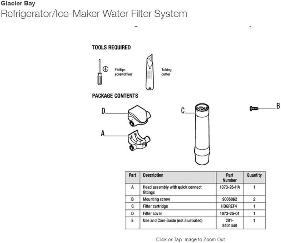 Lot of 2 Glacier Bay HDGRES4 Advanced Refrigerator//Ice Maker Filtration System