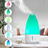 Aromatherapy Essential Oil Diffuser,Senbowe™[New Release] Portable 100ml Aromatherapy Essential Oil Diffuser, Ultrasonic Mist Aroma Humidifier,Air Humidifier Aroma Diffuser,With 7 Color LED Lights Changing,Waterless Protection,Portable Desigh for Home Office Bedroom Room Yoga Spa Sleep Baby Room and etc.