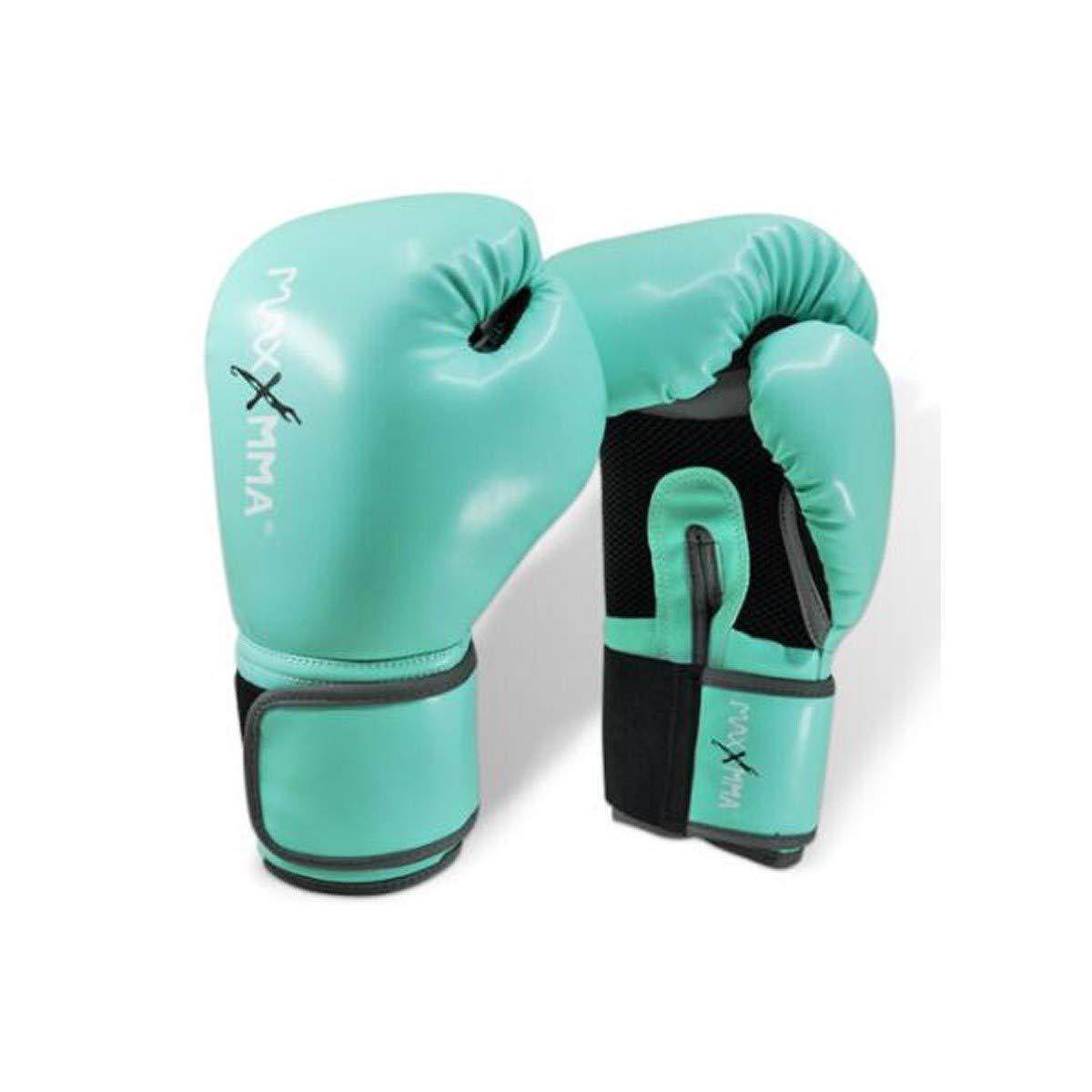 LHSY ボクシンググローブ、プロフェッショナルボクシンググローブUFCトレーニングムエタイボクシング、三田パンチングバッググローブ、大人の男性と女性のミントグリーングローブファイト (Size : 6oz)  6oz