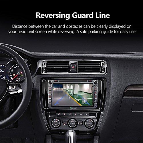Eonon 2019 A0132N Vehicle Backup Camera Rear View Camera Waterproof License  Plate Car Camera 12Volts Car Radio