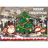 Jasion Christmas Window Clings Decals Decors Removable DIY Wall Stickers for Christmas Holiday New Years Winter Decoration Ornaments Party Supplies (A03)