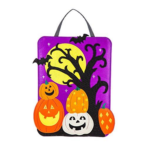 Evergreen Halloween Scene Lighted Outdoor Safe Door Hanger ()