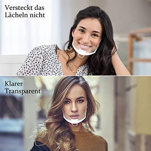 Innoo Tech - Visera protectora de plástico transparente universal para proteger la cara contra líquidos, protector facial para boca y nariz