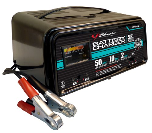 Schumacher SE-5212A 2/10/50 Amp Automatic Handheld Battery - Duty Charger Heavy Battery