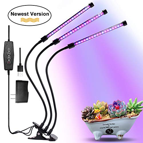 Grow Light, Grow Lights for Indoor Plants, Moer Sky 27W 54 LED Bulbs Timming Plant Grow Lamp with Red, Blue Spectrum, 3/6/12H Timer, 3-Head Divide Control Adjustable Gooseneck, 5 Dimmable Levels - How To Grow Orchid