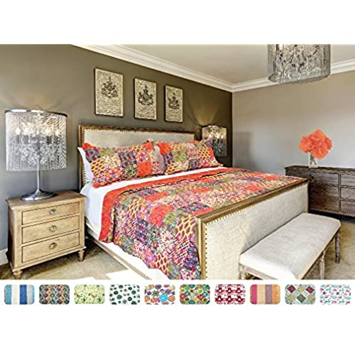The CONNECTICUT HOME COMPANY Luxury Quilt Collection, Reversible, 3 Piece  Set, Top Choice By Decorators, Many Sizes And Patterns, All Season Weight,  ...