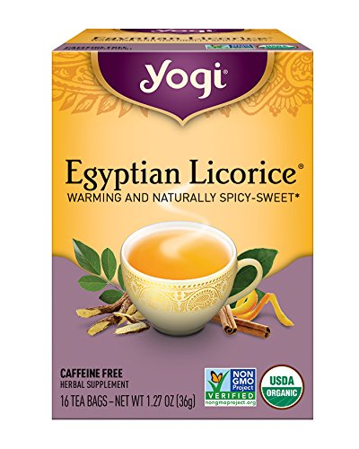 Yogi Tea, Egyptian Licorice, 16 Count, Packaging May Vary