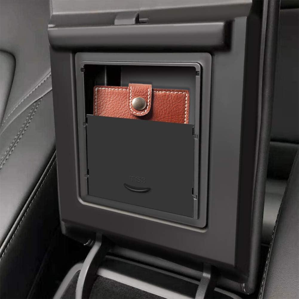 VXDAS Bandeja organizadora de consola central oculta reposabrazos caja de almacenamiento compatible con Tesla modelo 3 y accesorios modelo Y