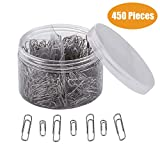 Paper Clips, Yamlion 450 Pieces Sliver Paperclips, Medium 28mm and Jumbo Sizes 50mm, for Office, School and Personal Document Organization (Silver)