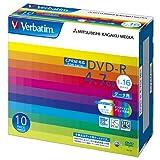 三菱ケミカルメディア Verbatim 1回記録用 DVD-R DHR47JDP10V1 (CPRM対応/片面1層/1-16倍速/10枚)