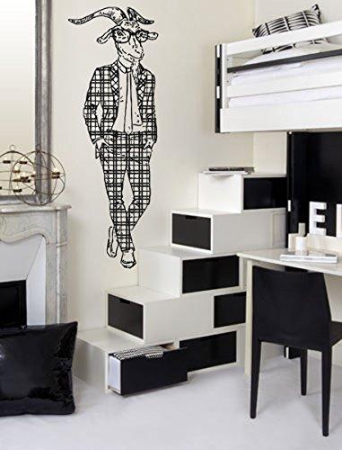 ik1084 Wall Decal Sticker fashion animal  goat suit Capricorn bedroom living room