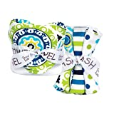 Trend Lab Bouquet Set - Waverly Solar Flair - Hooded Towel And Wash Cloth