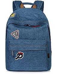 Leaper Classic Denim Laptop Backpack School Bag Daypack Handbag 14Inch Laptop