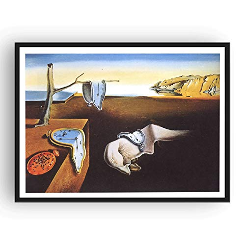 (Mile High Media Salvador Dali Canvas Poster The Persistence of Memory 13x19 Inch Color Print)