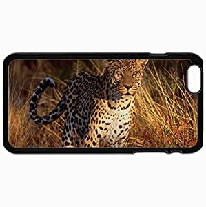Fashion Unique Design Protective Cellphone Back Cover Case For iPhone 6 Plus Case Design Design Cats Predators Black