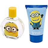 Minions for Kids 3 Piece Gift Set with Edt Spray, Shower Gel and Toiletry Bag