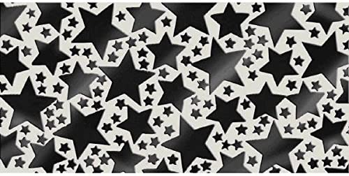 2.5 oz | Party Decor 12 Ct. amscan Black Metallic Star Confetti