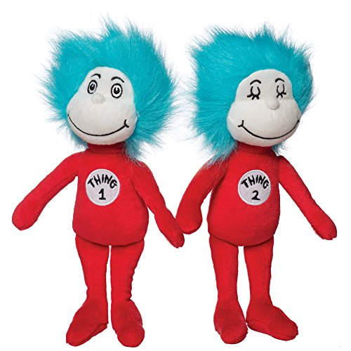 Manhattan Toy Dr. Seuss Thing 1 and Thing 2 Plush Toy Set -