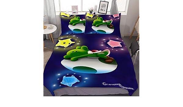 SfeatrutMAT Duvet Cover Set Queen Size 80x90,Mario Bros Peach,Luxury Bedding Set Comforter Cover 1 Duvet Cover and 2 Pillowcases