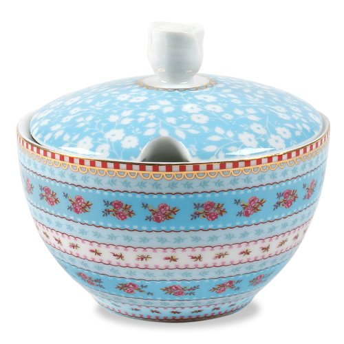 Pip Studio Amsterdam Porcelain Blue Ribbon Sugar Bowl