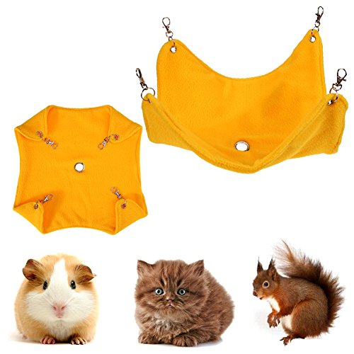 Embiofuels(TM) Fleece Hamster Hammock Guinea Pig Hanging Blanket Mat for Small Pets Animal Cage Cat Bed Accessories Mat Pet Products