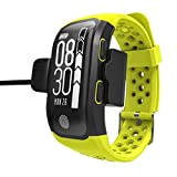 LPY-Heart Rate Watch,ECG, IP68 Fitness /Activity Tracker Wristband GPS - Green